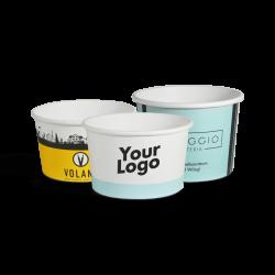 Pots à glace personnalisés - Fini mat