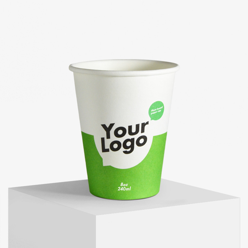 BIO+FSC Single wall paper cups with your logo
